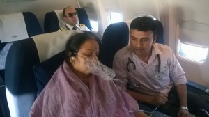 Air Ambulance Services Patient transfer from Delhi to Trivendram