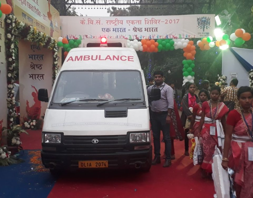 road ambulance backup for national unity fair