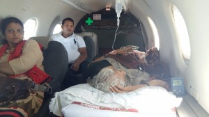 Shifted from Siliguri to Delhi by Air Ambulance