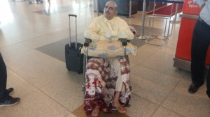 Air Transportation of a wheel chair case by commercial flight from Delhi to Srinagar